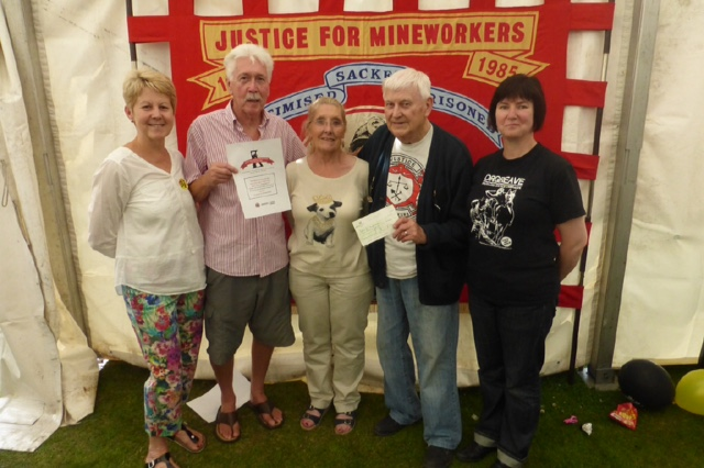 Justice for miners cheque