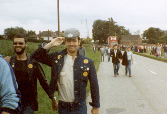 Walking back from Harworth colliery. Notts After picket duty. April 1984 left Mick Bush and Daz Goulty. Silverwood lads. You could not buy us for love nor' money.