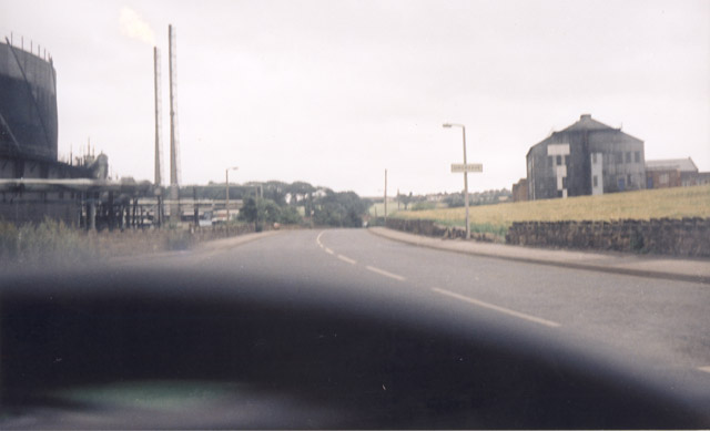 Driving to Orgreave from Catcliffe and Rotherham end, in the early days. Note the Orgreave sign on the lamppost.