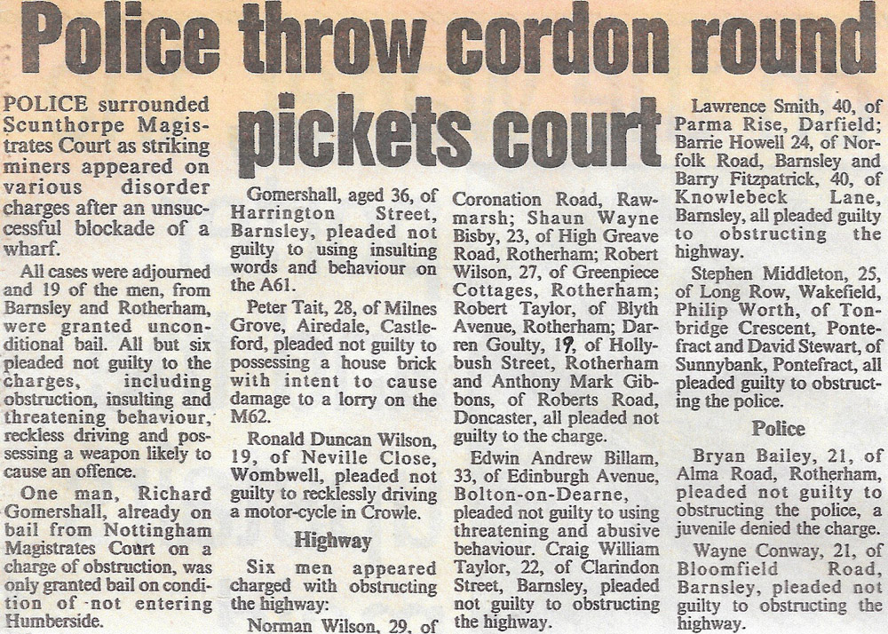 Arrested at Scunthorpe, the police Sergeant wouldn't believe Captain Bob's age. He never got over the insult and it wasn't given in the paper either. Sheffield Star.
